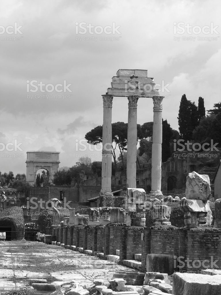View of the Roman Forum royalty free stockfoto