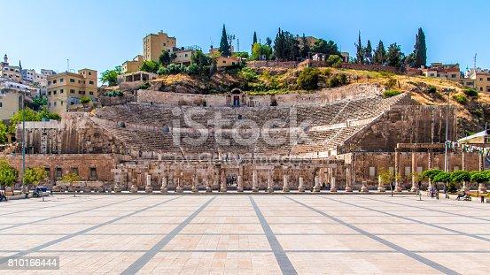 View of the Roman Theater in Amman, Jordan