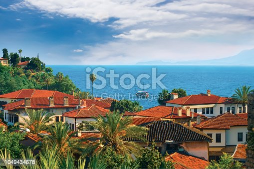 istock View of the roofs old city Antalya. 1049434678