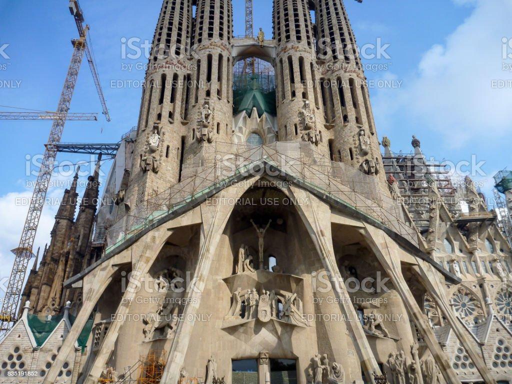 サグラダ ファミリア バルセロナ スペインで大規模なローマ カトリック
