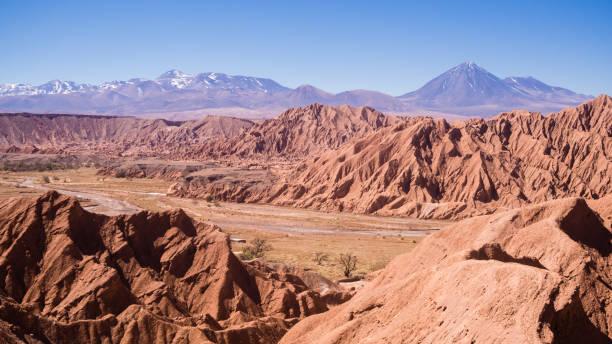 チリ、アタカマ砂漠、サンペドロデアタカマのサンペドロ川の眺め - アルティプラノ ストックフォトと画像