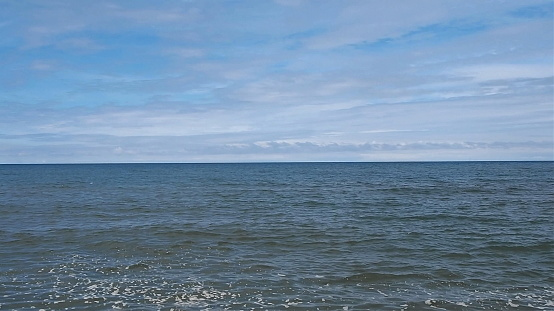 View Of The Sea Background Stock Photo - Download Image Now