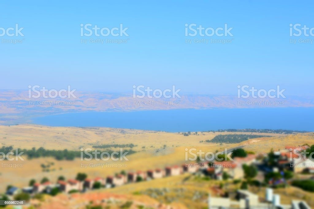 View of the Sea of Galilee stock photo