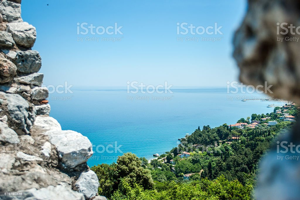 View of the sea stock photo