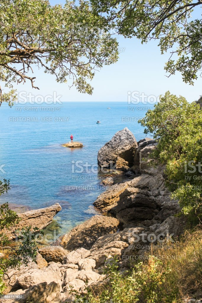 View of the sea. royalty-free stock photo