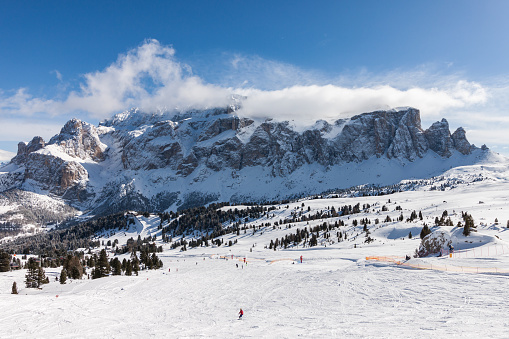 View of the Sella Group from the ski area