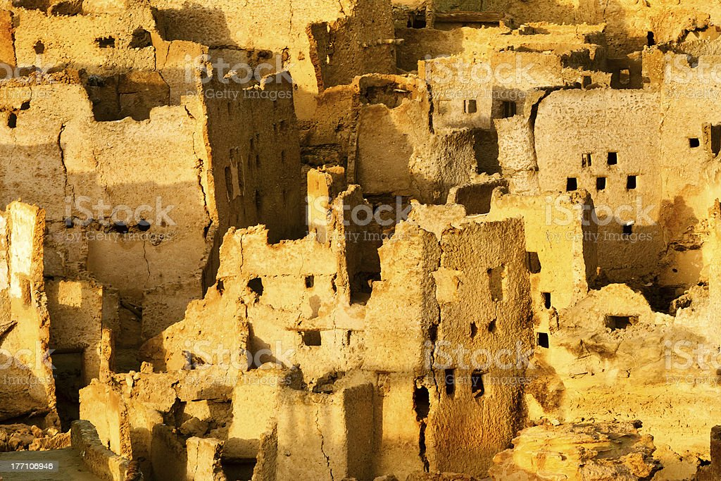 View of the Siwa Oasis is in Egypt stock photo