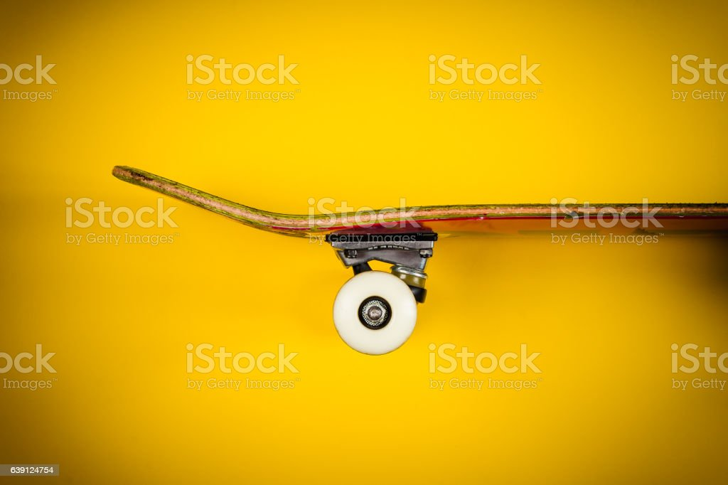 view of the skateboard on the background stock photo