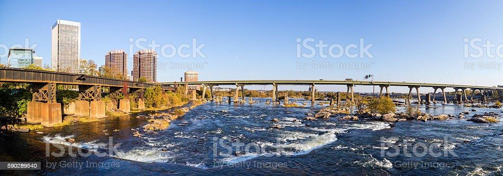 View of the skyline in Richmond, Virginia. Стоковые фото Стоковая фотография