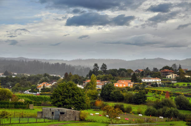 View of the small town of Noia, Galicia, Spain stock photo