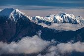 View of the snowy mountains of the Julian Alps, Primorska, Slovenia, Europe,Nikon D850