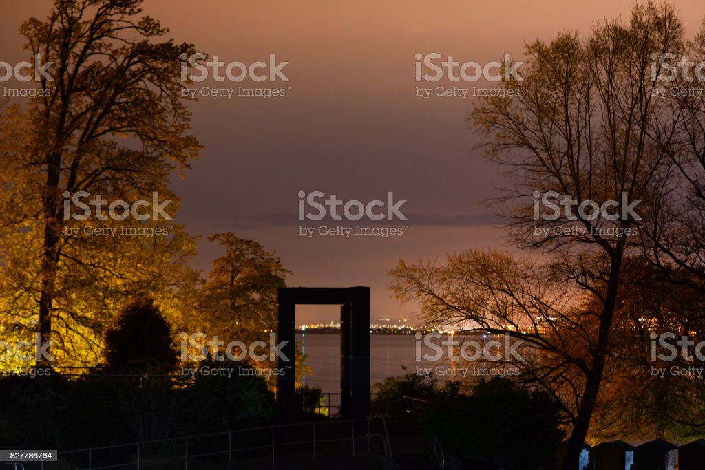 View of the Solent from Appley stock photo