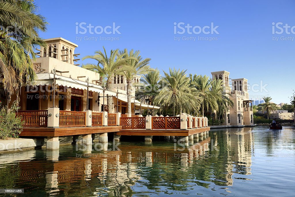 View of the Souk Madinat Jumeirah, Dubai, UAE royalty-free stock photo