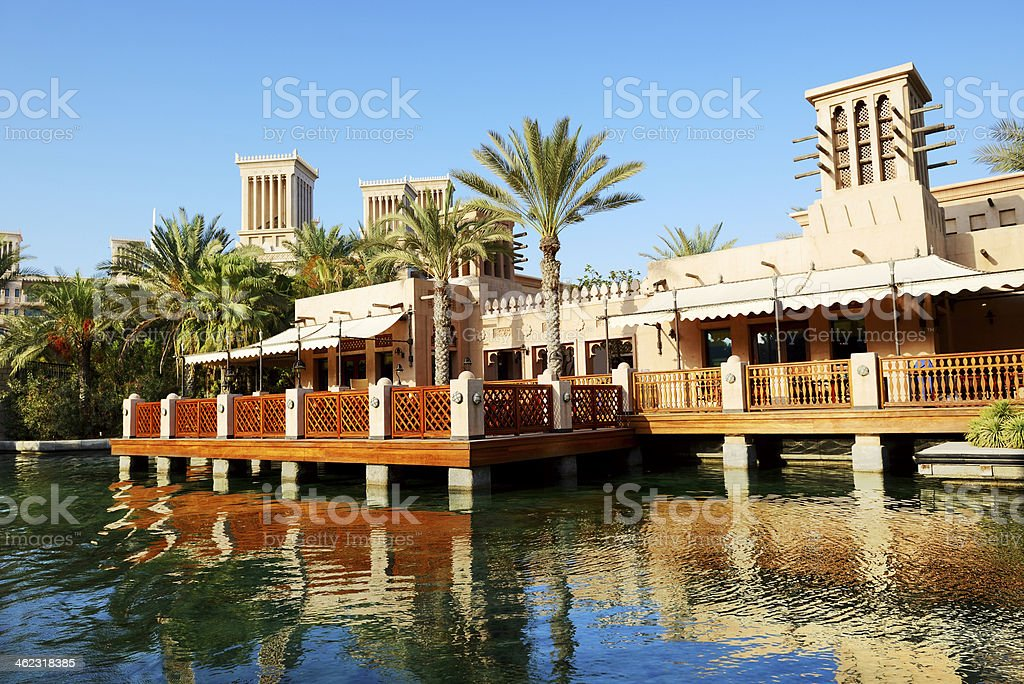 View of the Souk Madinat Jumeirah, Dubai, UAE stock photo
