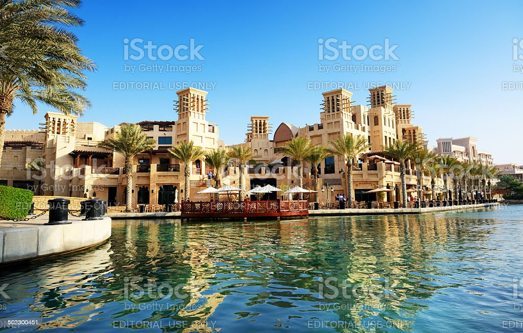 View of the Souk Madinat Jumeirah stock photo