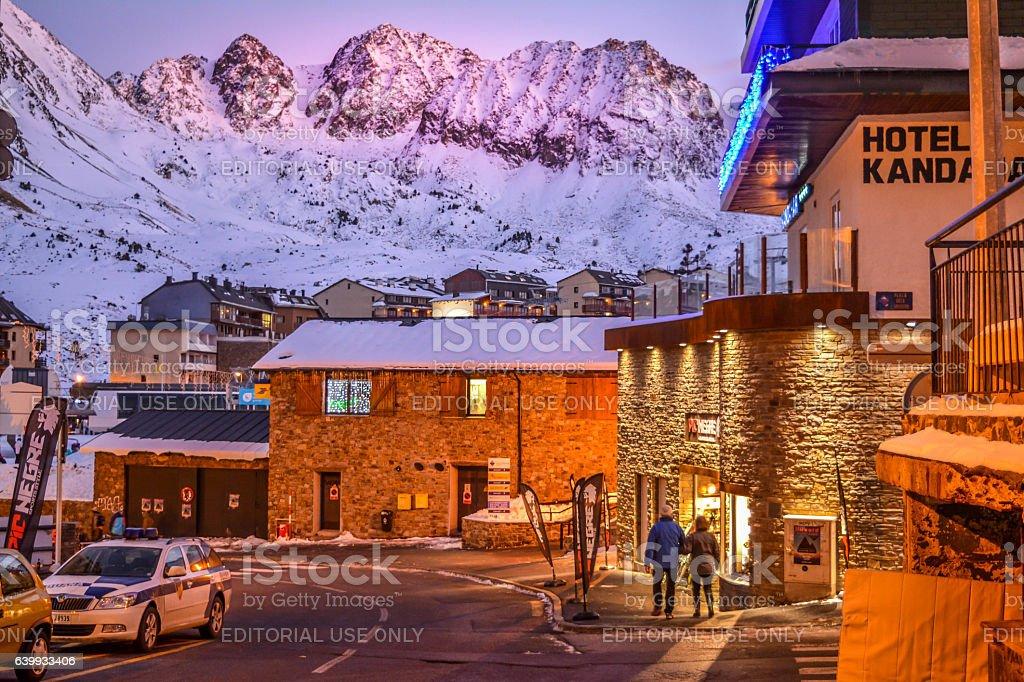 View of the streets of Pas de la Casa - Andorra - foto de acervo