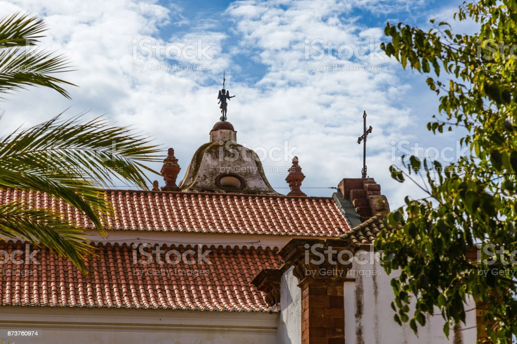 View of the streets of Silves, Portugal stock photo