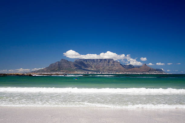 A view of the Table Mountain during summer stock photo