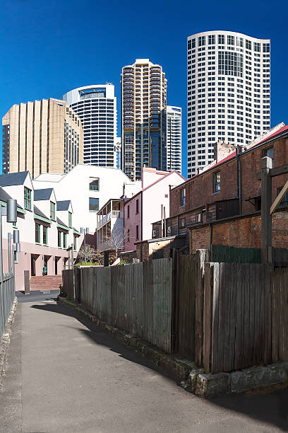 View of the tall towers of hotels in Sydney.