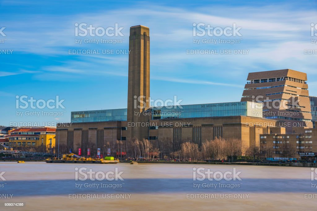 View of the Tate Modern art gallery stock photo