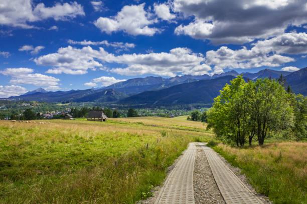 View of the Tatra Mountains. stock photo