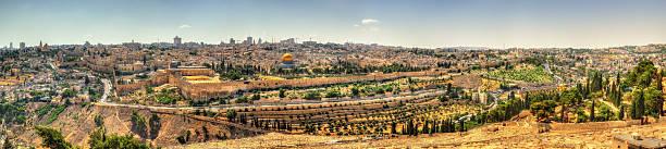 blick auf den tempelberg in jerusalem - jerusalem stock-fotos und bilder