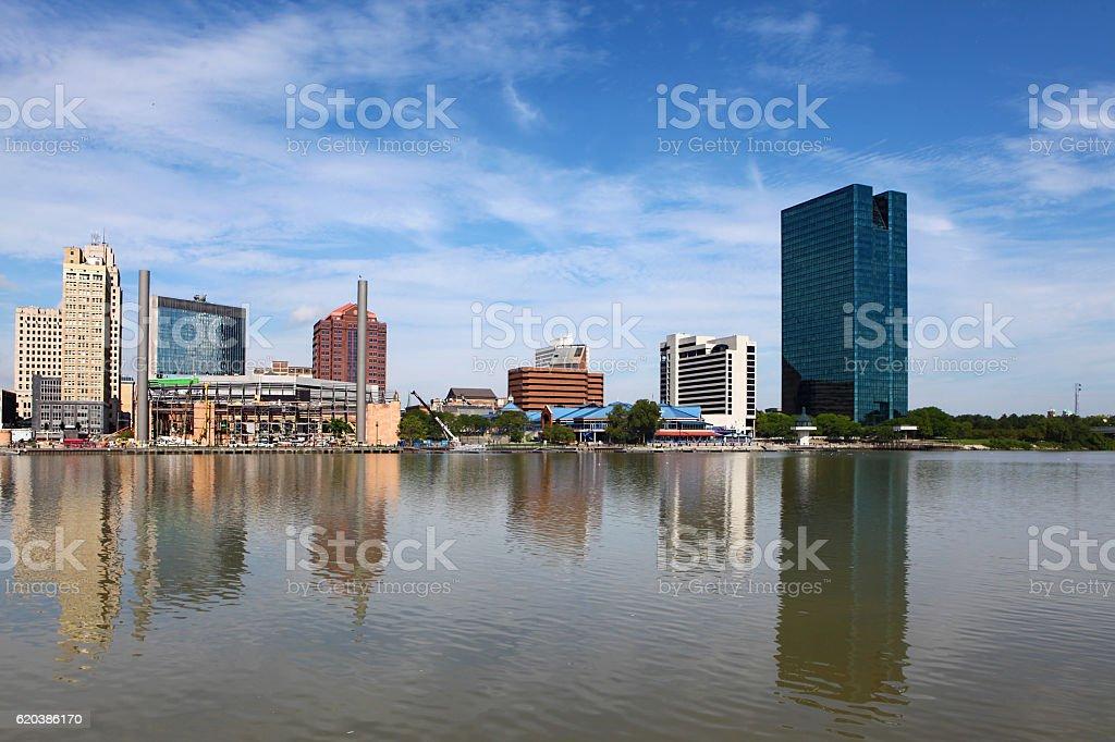 View of the Toledo skyline stock photo