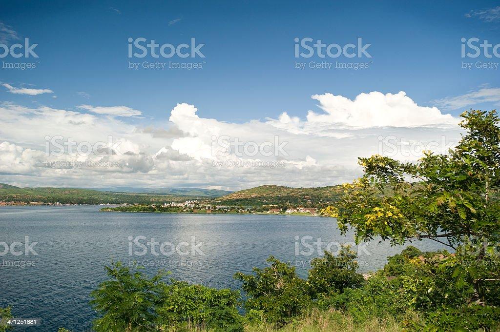 View of the town Kigoma, Lake Tanganyika, Tanzania stock photo
