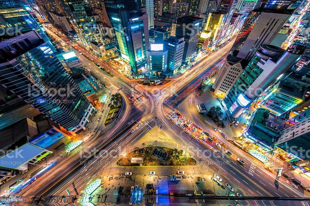 Séoul au-dessus de - Photo de 2015 libre de droits