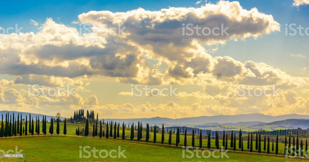 View of the Tuscany countryside near Siena foto stock royalty-free