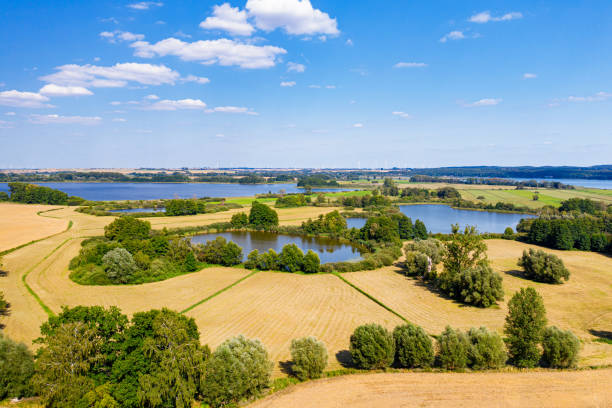View of the Uckersee in the Uckermark stock photo