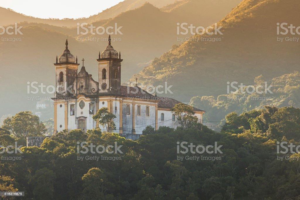 View of the unesco world heritage city of Ouro Preto stock photo