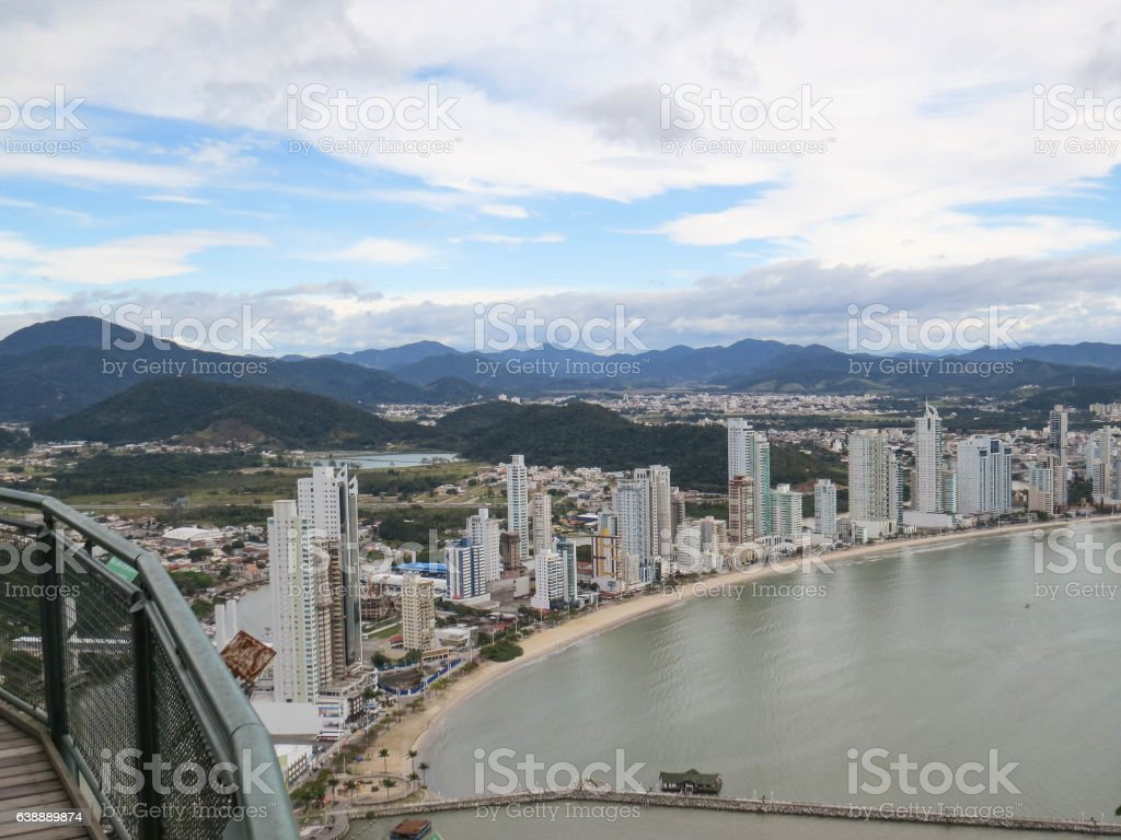 View of the urban seaside from a lookout stock photo