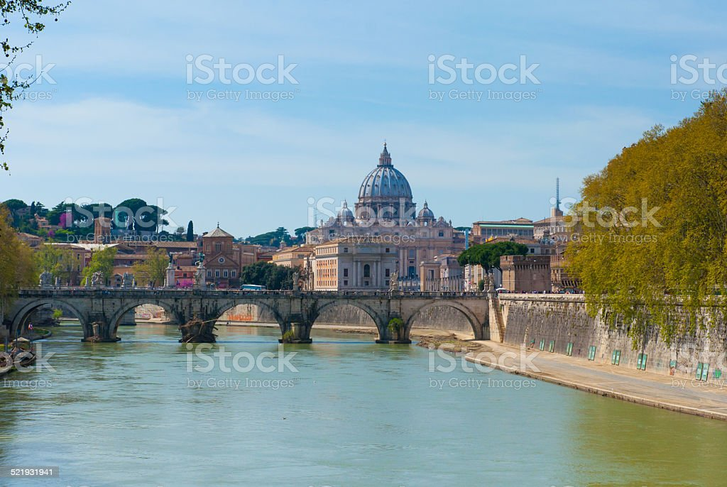 View of the Vatican, Rome. stock photo