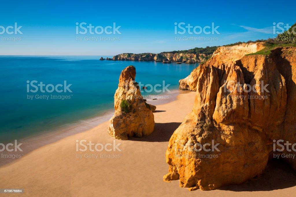 View of the Vau Beach (Praia do Vau) in Portimao, Algarve, Portugal royalty-free stock photo