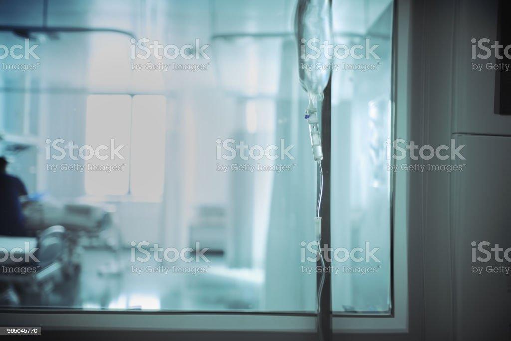 View of the ward through the hall window zbiór zdjęć royalty-free