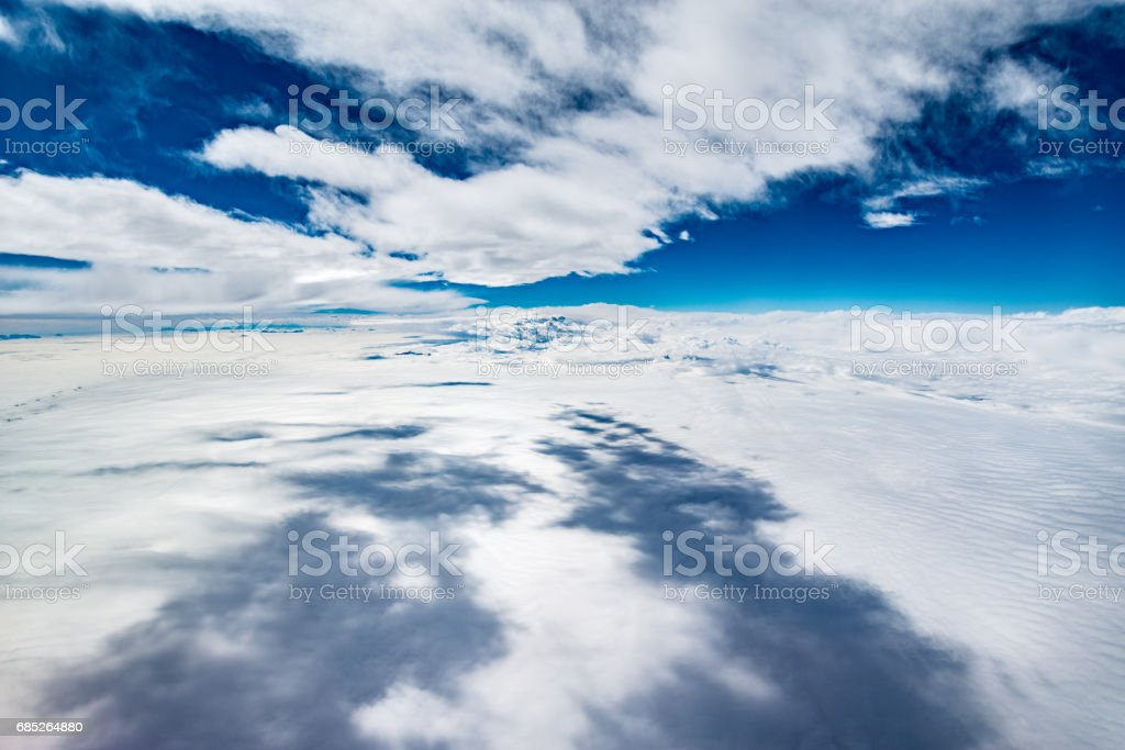 View of the white clouds. royalty-free stock photo