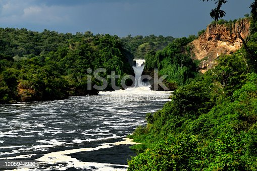 View of the wonderful Murchison Falls and the White Nile, Uganda