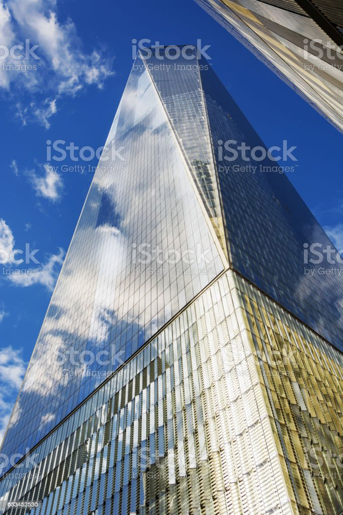 View of the World Trade Center in Lower Manhattan stock photo