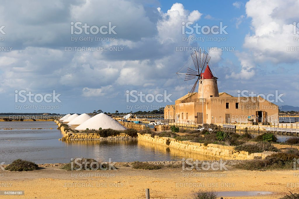View of the wwf windmill in the salt pans stock photo