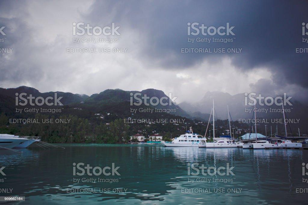 Vista del puerto de yates. - Foto de stock de Agua libre de derechos