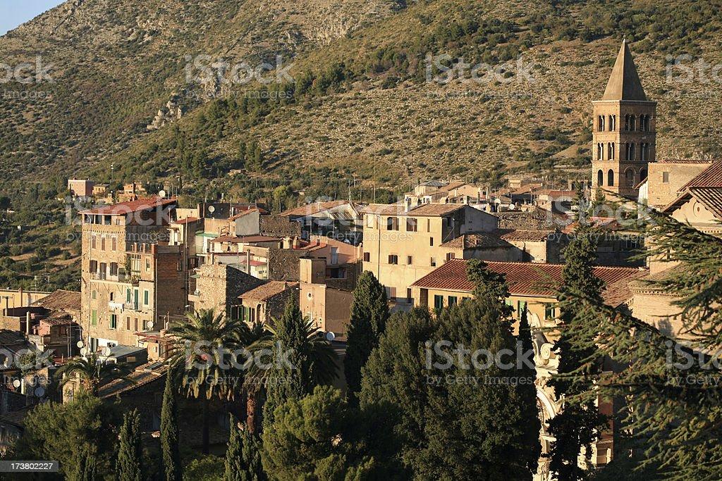 View of Tivoli in Lazio, Italy royalty-free stock photo