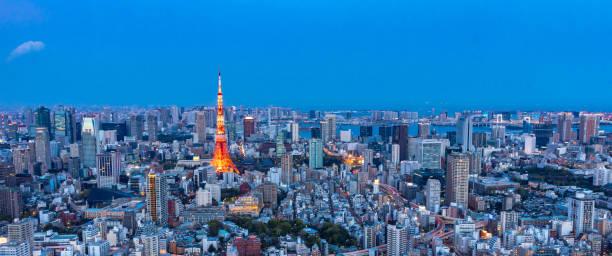 Blick auf Tokyo Stadt und Tokyo Skyline ist die moderne Hauptstadt von Japan. – Foto