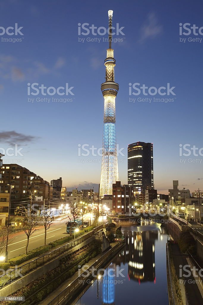 View of Tokyo Sky Tree royalty-free stock photo