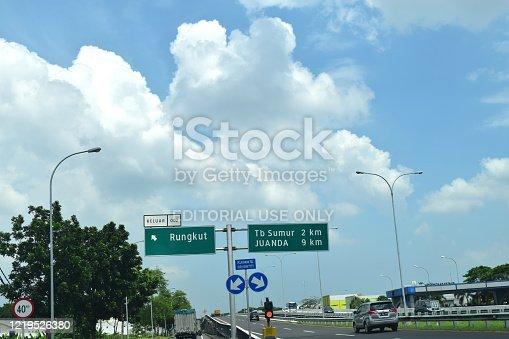 istock View of toll access Juanda Airport 1219526380