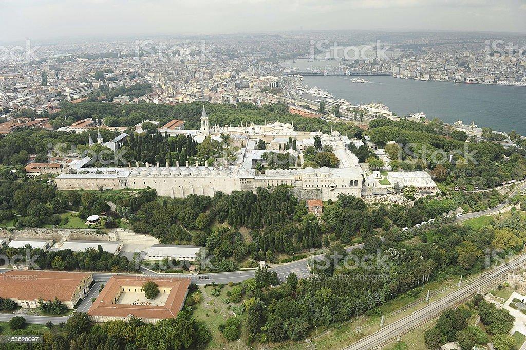 View of Topkapi palace royalty-free stock photo