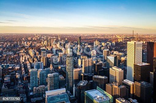 istock View of Toronto City from above - Toronto, Ontario, Canada 626723750