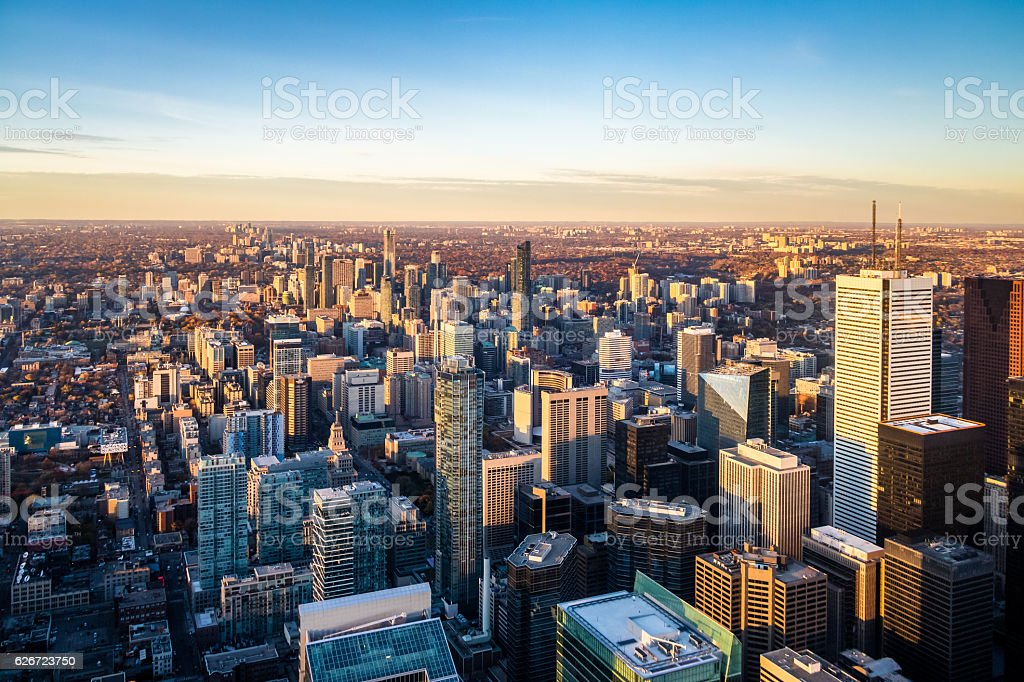 View of Toronto City from above - Toronto, Ontario, Canada stock photo