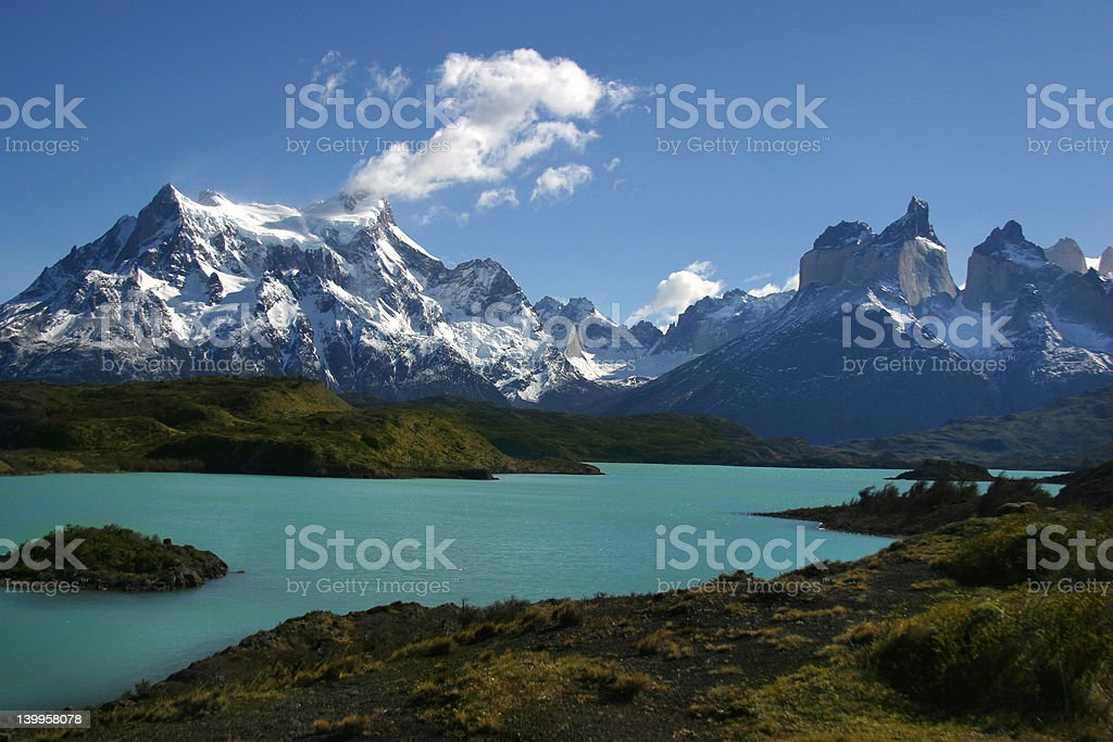 View of Torres del Paine stock photo