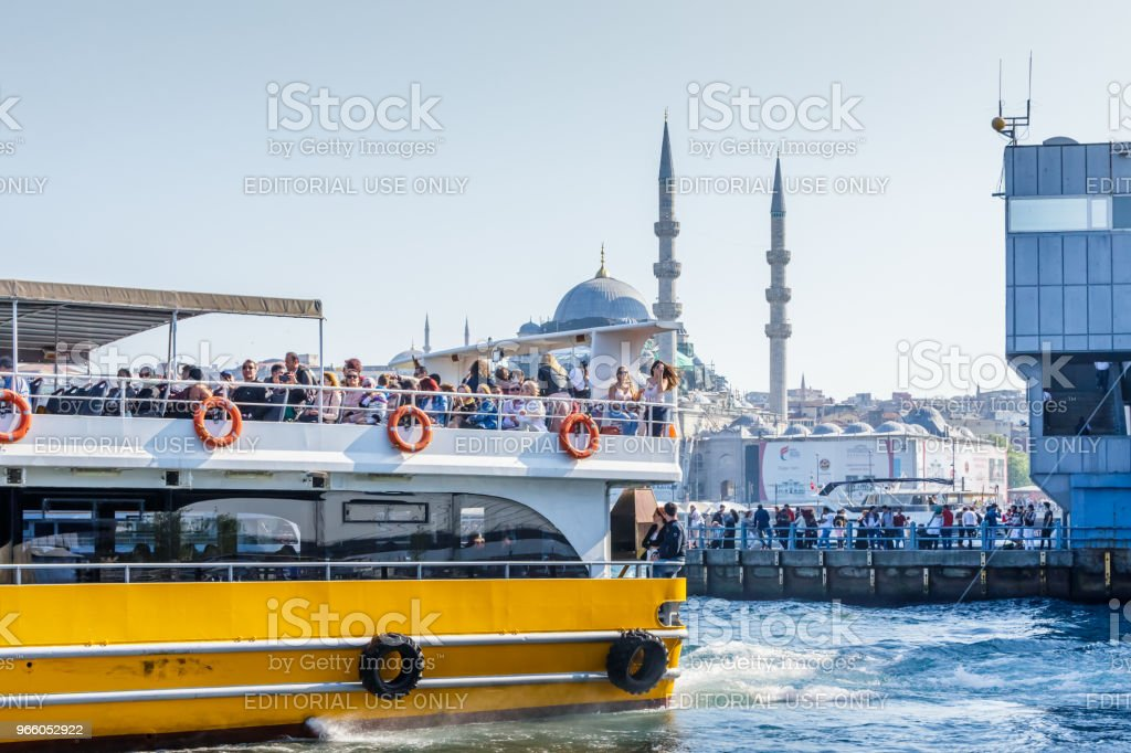 View of Tourist people and new mosque - Royalty-free Bay of Water Stock Photo